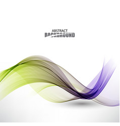 abstract background with color waves vector image vector image