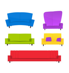 abstract creative funny cartoon sofa set isolated vector image