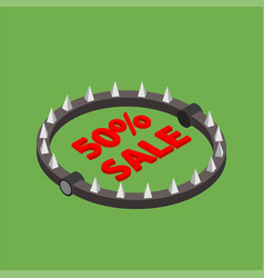 bear trap with red word sale vector image vector image