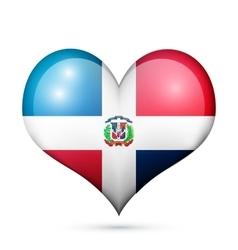 Dominican republic heart flag icon vector