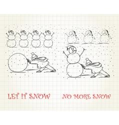Let it snow vs no more snow vector