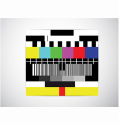 test tv screen background when channel tv have vector image