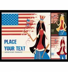 American girl vector image