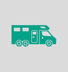 Camping family caravan icon vector
