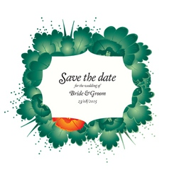 save the date wedding invite card vector image