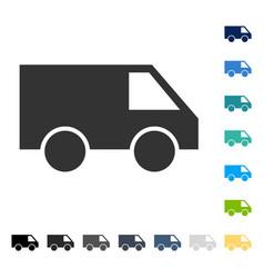 van icon vector image