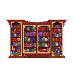 Antique book cabinet composition vector