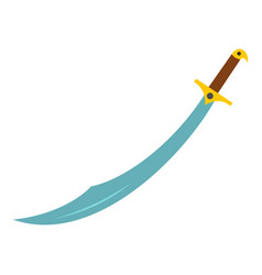 arabian scimitar sword icon isolated vector image