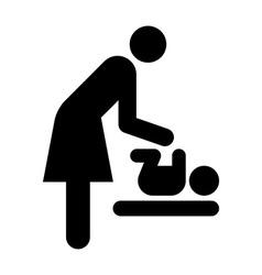 Baby care room symbol vector image vector image