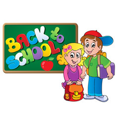 back to school thematic image 4 vector image