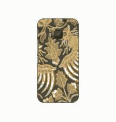 batik phonecase 10 vector image