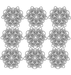 Black and white abstract flowers print patern vector