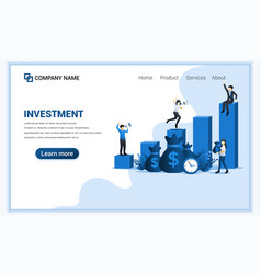 businessman achieve investment success financial vector image