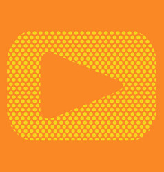 Button video player social media youtube vector