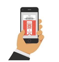 buy tickets online vector image