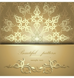 Calligraphic pattern with butterflies vector