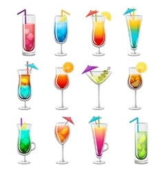 Classic Alcohol Cocktails Set vector image