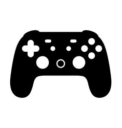Cloud gaming video game controller icon vector