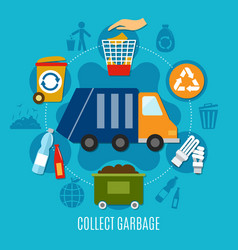 Collect garbage circle composition vector