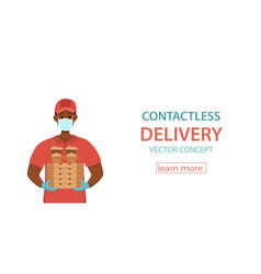 Contactless delivery during prevention of vector