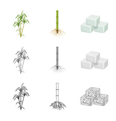 Design farm and agriculture icon set of vector
