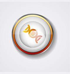 Dna icon symbol helix symbol gene icon vector