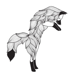 Doodle jumping Fox vector image