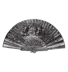 Fan of a peacocks tail vintage engraving vector