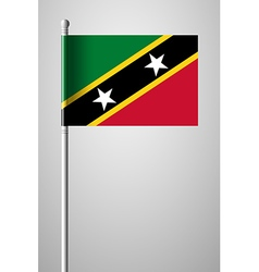 Flag of Saint Kitts and Nevis National Flag vector image