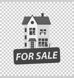 For sale sign with house home for rental in flat vector
