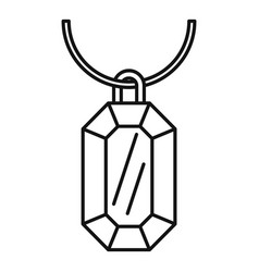 Gemstone necklace icon outline style vector