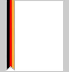 German flag ribbon border vector