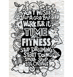 Healthy lifestyle concept hand drawn doodle vector