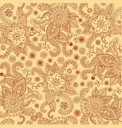 henna mehndi patten bagkround for print design vector image