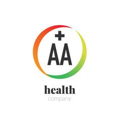 Initial letter aa creative health logo company vector