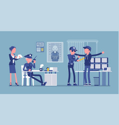Inspection police process vector