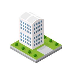 isometric 3d module block vector image