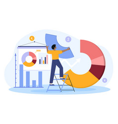 Male investor or financial planner standing vector