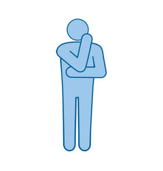 Man standing icon vector