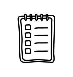 Memo pad icon line style vector