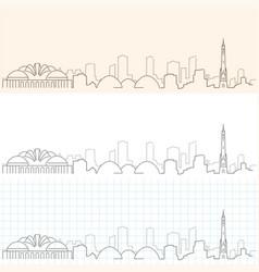 Milwaukee hand drawn skyline vector
