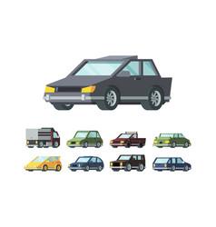 modern automobiles models flat vector image
