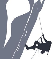 mountain peak hiker adventurer vector image
