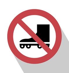 No Roller Sign vector
