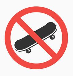 No-skateboards-sign vector