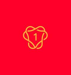 Number 1 logo icon design template creative vector