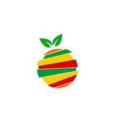orange juice logo vector image