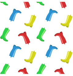 Rainboots seamless pattern vector