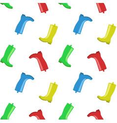 rainboots seamless pattern vector image