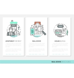 Real Estate Business Brochure Template vector image